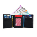 3 Fold Black Mens Leather Wallet