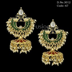 Meenakari Handmade Jhumka Earrings