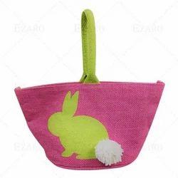 ezaro粉红色设计黄麻包