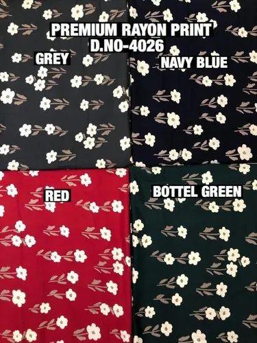 Rayon Print Premium Fabric