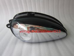 New Bsa C11g C12 Black Painted Chrome Petrol Tank