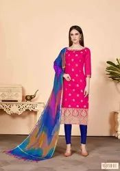 Integral Silk Weaving Casual Salwar Kameez