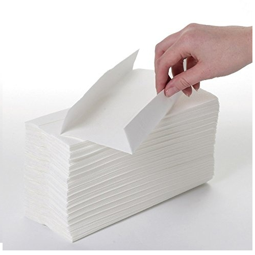 Embroidered White C-Fold Paper Hand Towel, Size: 28cm and 20cm 150 Pcs, Rs  35 /packet   ID: 12999289048