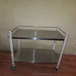 Instrument Trolley with 2 S.S Shelves