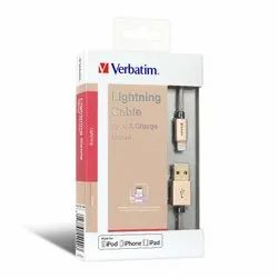 Verbatim Sync & Charge Step-Up Lightning Cable For Iphone, Ipad - 120cms 1.2m