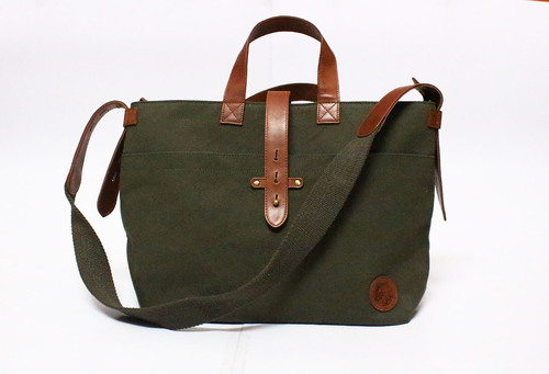 ce100b09c13 Waxed Canvas And Leather Women's Handbag