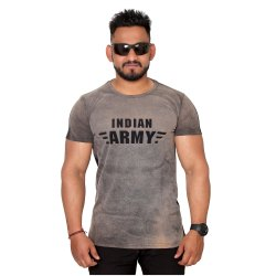 Printed Men Indian Army Round Neck T Shirt