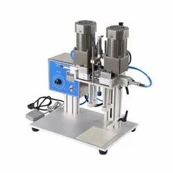 Semi Automatic Pneumatic Sprayer Capping Machine