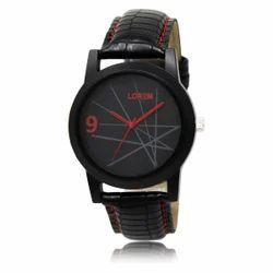 Lorem Men's Black Analog Watch LR08