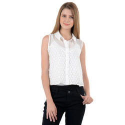 White Womens Cotton Top