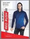 M, L And Xl Red Rush Men Full Sleeve Hooded T Shirt