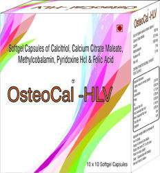 Softgel Capsules of Calcitriol Calcium Citrate Maleate Methylcobalamin Pyridoxine Hcl and Folic Acid