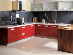 Wooden U Shaped Modular Kitchen