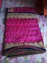 Pink Bridal Wear Ladies Fancy Saree, Length: 6.3 M (with Blouse Piece)