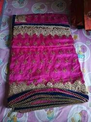 Pink Bridal wear Ladies fancy Saree, 6.3 m (with blouse piece)