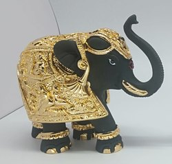 Black Terracotta Elephant Statue