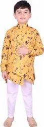 SG YUVRAJ Multicolor Drape Kurta for Boys, Size: 2-16 Years
