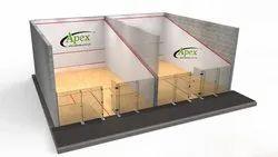 Brown Squash Court Wooden Flooring