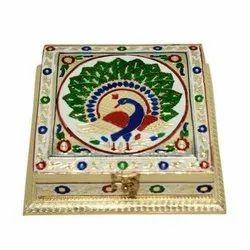 Peacock Design Dry Fruit Box