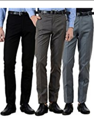 Multi Color Cotton And Polyester And Viscose Mens Formal Trouser