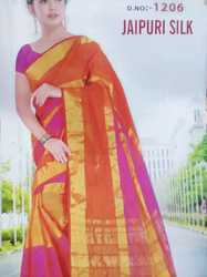 Jaipuri cotton silk saree