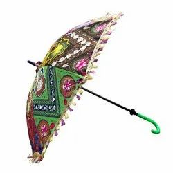 Polyester Printed Handcraft Umbrella, for Summer, Size: 24x28 Cm