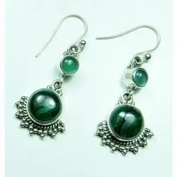 Malachite 925 Sterling Silver High End Finished Earrings