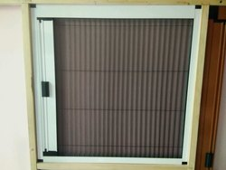 Pleated mosquito net door