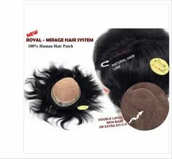9x7 Inch Natural Black Human Hair Mirage Patch