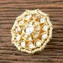 Brass White Gold Plated Designer Classic Ring 350339