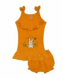 Sleeveless Frock With Bloomer