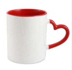 Sublimation Heart Handle Mug