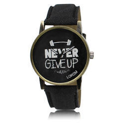 Lorem Black Men's Motivate Watch