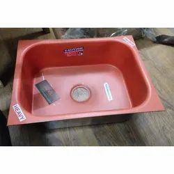 Maruti Single Stainless Steel Kitchen Sinks, For Home