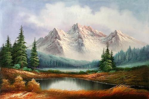 Bluementor(Suppied By Partner) Mountain Landscape Painting - Bluementor(Suppied By Partner) Mountain Landscape Painting, Rs 650