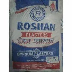 Roshan White POP Gypsum Plaster, Packaging Size: 18 Kg