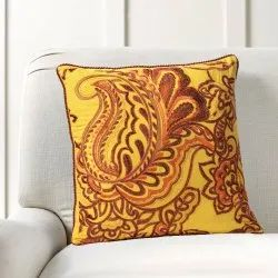 16 X 16 Inch Mimosa Floral Embroidery Cushion Cover