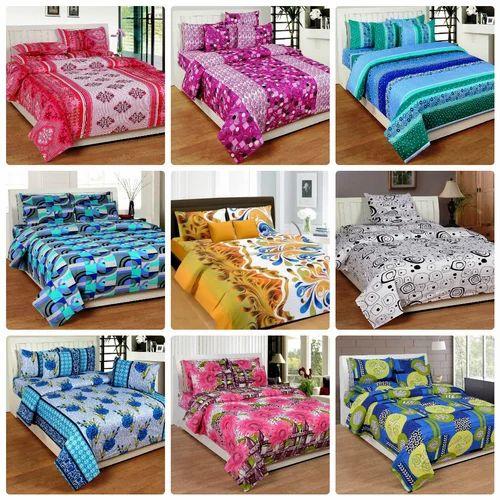 Printed Cotton Handloom Textile 100%home Furnishing Bedsheet Fabric, GSM:  150 200