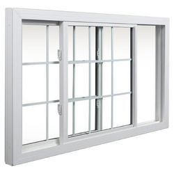 Glossy Insulated Window In Aluminium And UPVC Section