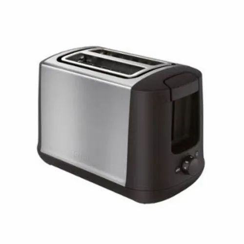 Stainless Steel Black and Grey Electric Pop Up Toaster for Home