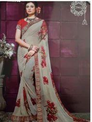 Flower Print Design Saree