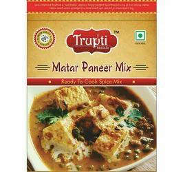 Trupti Matar Paneer Mix Masala, Packaging Size: 50g
