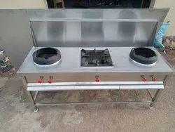 Three chinese Burner Gas Stove