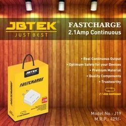 White Electric 2.1 Amp JBTEK Fast Charger Adapter