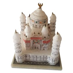 White Painted Marble Taj Mahal Showpiece