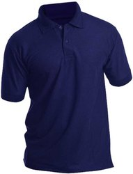 Men Half Sleeves Blue Polo T -Shirt