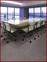 Pvc Plain Office Carpet Tile