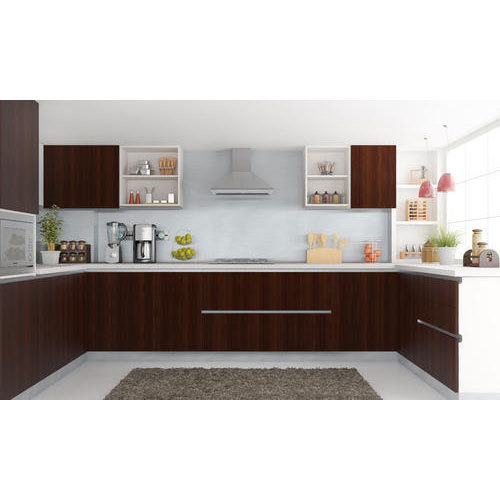 U Shaped Modular Kitchen यू आकार की मॉड्यूलर रसोई यू शेप