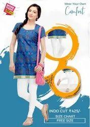 Lycra Cotton indo cut churidar Comfort Lady Indocut Leggings, Size: Free Size