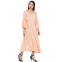 Umbrella Cut Peach Anarkali Kurta